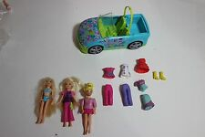 Polly Pocket lot car dolls cloths boots