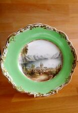 ANTIQUE COPELAND AND GARRETT PLATE PAINTED NAMED VIEW OF LAKE OF LUCERN