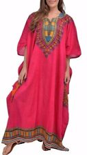Women's New Plus Size 100% Cotton Long Kaftan Dress African Size 22 24 26 28 30