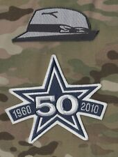 TOM LANDRY'S HAT SUPER BOWL CHAMP COWBOYS 50TH ANNIVERSARY 2-PATCH SET