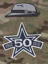 TOM LANDRY'S HAT SUPER BOWL CHAMP COWBOYS 50TH ANNIVERSARY 2-PATCH SET
