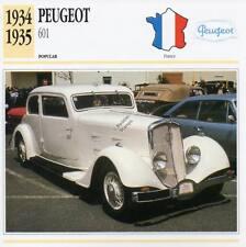 1934-1935 PEUGEOT 601 Classic Car Photograph / Information Maxi Card