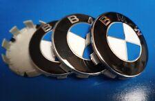 4 tappi coprimozzo cerchi BMW Serie 1, 3, 5, X1,X3, X5. - BLUE - Borchie, fregi