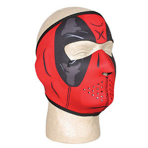 Halloween Neoprene Warm/Cold Weather Face Protection Adjustable Deadpool Mask