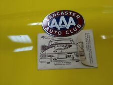 Original 1940 's- 1950s Vintage AAA Lancaster NOS Badge Auto Club Emblem