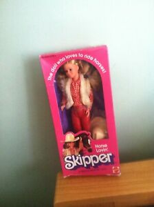 Western Horse Lovin' Skipper sister of Barbie 1982 doll #5029 NIB