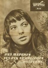 DDR Filmprogramm 56/1961 Das Mädchen aus den nördlichen Wäldern