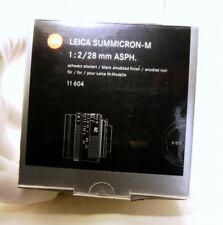 Vuoto Scatola per Leica 11 604 Obiettivo SUMMICRON-M 28mm f2 con Spugna Inserto