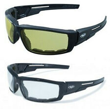 2 Sly Motorcycle Riding Biker Quad Glasses Sunglasses Clear And Yellow Padded