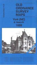 Mapa antiguo Ordnance Survey York ne & heworth 1889 Edición De Color