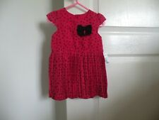 NEW RED & BLACK DRESS....AGE9-12MNTHS