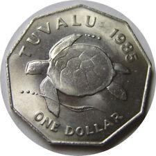 elf Tuvalu 1 Dollar 1985   Sea Turtle