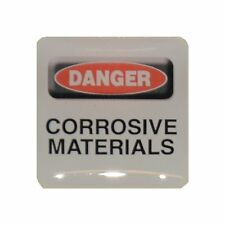 Case Sticker Danger Corrosive Materials