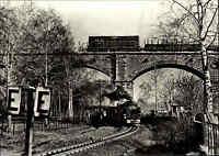 DDR AK Eisenbahn Strecke Zittau - Oybin Jonsdorf, Bahn Zug auf der Neiße Brücke
