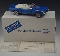 DANBURY MINT 1969 CHEVROLET CAMARO CONVERTIBLE MODEL BLUE 1:24 SCALE DIE CAST