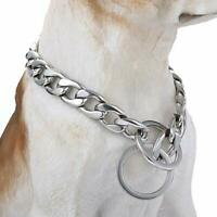 Large Pet Dog Choke Chain Silver Stainless Steel Collar Necklace Nice Quality