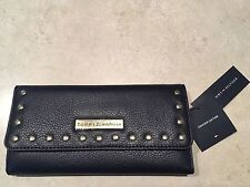 NWT Tommy Hilfiger Studded Pebbled Leather Large Wallet - Navy - $88