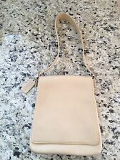 Coach Ivory Leather Shoulder Bag Purse Vintage Silver Hardware Adjustable