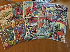 Dc Marvel Silver Age Mixed Lot of 11 Jla Aquaman X-Men Teen Titans Cap!