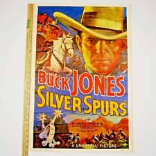 SILVER SPURS Buck Jones, Muriel Evans, Gabby Hayes 20x29 Repro Movie Poster