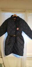 Vtg Nos 70s Quilted Ski Puffer knee length Coat Jacket women X Large Usa