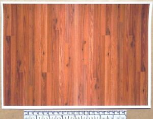 Dolls house 1/12th scale paper - A4 sheet - wood plank flooring 'Golden Oak'