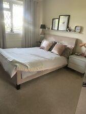 Next Home Mink Portofino Double Bed Frame Rrp £450