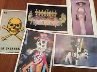 Vintage Mexican Day of the dead Dia de Muertos postcards - set of 5