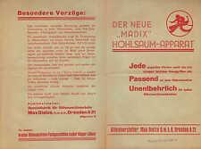 DRESDEN, Prospekt 1935, Spezial-Fabrik Nähmaschinen-Teile Max Dietze GmbH Madix