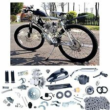 Silver 80cc 2 Stroke Bicycle Engine Kit Gas Motorized Bike Motor NEW