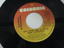 Barbra Streisand love theme from a star ia born / I believe in love 45 Record