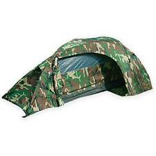 Mil-Tec Recom 1-Man One Person Military Army Camping Tunnel Tent Woodland Camo