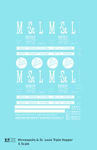K4 S Decals Minneapolis and St Louis Three Bay Hopper MSTL