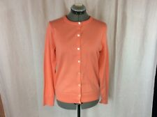 Women's Lands' End Coral Color Long Sleeve Cardigan Sweater Size S