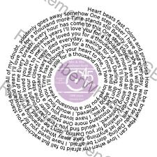 Christina Perri A Thousand Years First Dance Vinyl Birthday Wedding Print Gift