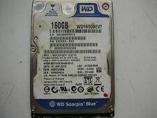 """WD Scorpio Blue 160gb WD1600BEVT-22ZCT0 2060-701499-000 REV A 2,5"""" SATA"""