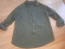 Ladies DOROTHY PERKINS Shirt - Size 14 - Khaki