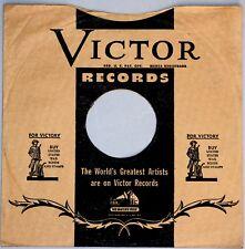 8 Original U.S.A. Victor Plattenhüllen leer Hüllen für Schellackplatte # A-456