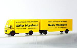 Herpa MB Mercedes Rimorchio Walter Mosebach Möbeltransporte 1:87/H0
