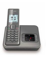 Telekom Sinus A206 Silbergrau Schnurlos Telefon mit Anrufbeantworter Schnurloses
