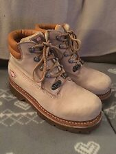 ART Boots Walking Hiking Cream Suede Leather UK 5 EU 38 Air Sole Surf Rock Emo