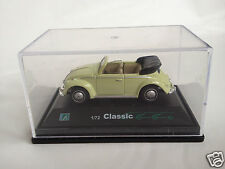 Hongwell 1:72 scale Classic Volkswagen Beetle Cabriolet Convertible - green