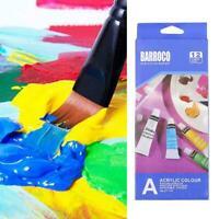 12 Color Gouache Paint Tubes Set 6ml Draw Painting New Pigment Painting Q6D9