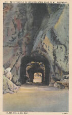 Twin Tunnels On Iron Mountain Road to Mt. Rushmore Black Hills South Dak   # D24