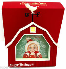 Dept. 56 Snowbabies on the Farm BARN Picture Frame Retired New in Box 67509
