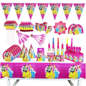 PRINCESS Party Supplies Decoration Birthday Plate Napkin Cup Cover Belle