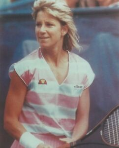 CHRIS EVERT 8X10 PHOTO TENNIS PICTURE