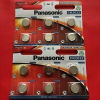 12 x Panasonic CR2032 3V Lithium Coin Cell Battery 2032 - Longest Expiry - UK
