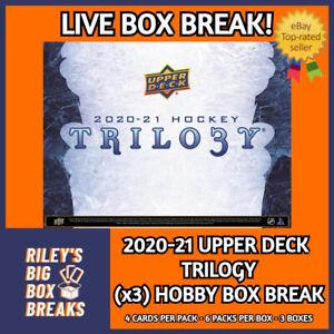 20-21 UPPER DECK TRILOGY (x3) TRIPLE HOBBY BOX BREAK #152 - PICK YOUR OWN TEAM!