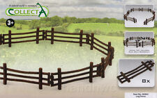 CollectA 89463 Log Fence for Toy Horses, Livestock, and Wild Animals Diorama NIB